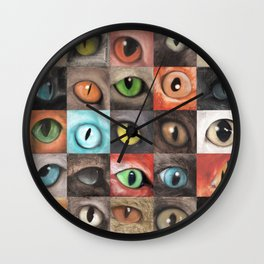 Changing eyes Wall Clock