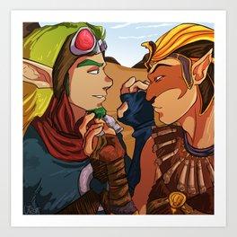 Jak and Sphinx Art Print