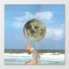 Little Luna At The Beach Canvas Print