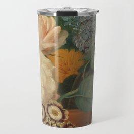 Flowers in a Terra Cotta Vase by Albertus Jonas Brandt Travel Mug