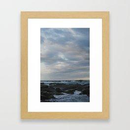 kaikoura shore I Framed Art Print