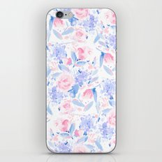 Scattered Lovers Blue on White iPhone Skin