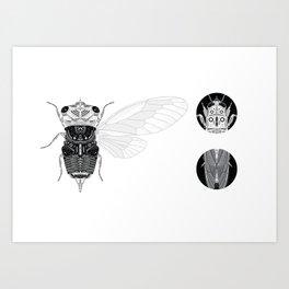 cicada (i) Art Print