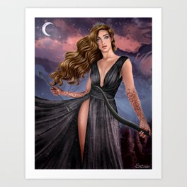 Lady of Night Art Print
