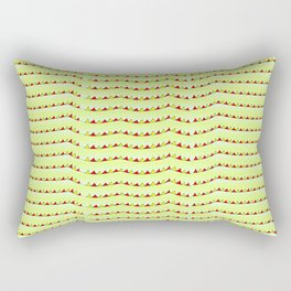 triangles and green-abstraction,abstract,geometric,geometrical,pattern,triangle,order Rectangular Pillow
