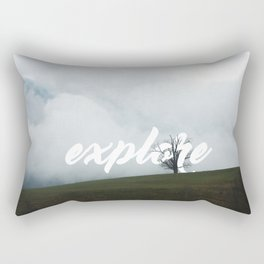 Explore // #TravelSeries Rectangular Pillow
