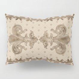 Fleur-de-lis - Pastel Gold Pillow Sham