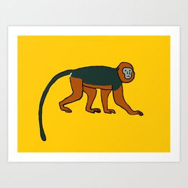 The Intelligent Monkey Art Print