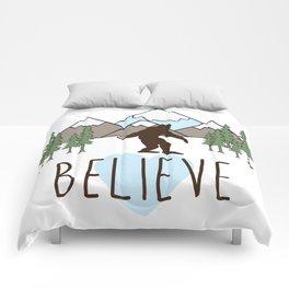 Believe in Bigfoot Comforters