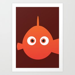 PIXAR CHARACTER POSTER - Nemo - Finding Nemo Art Print