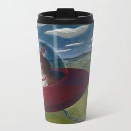 Saucer Cat Metal Travel Mug