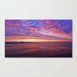 Sunrise #2 Huntington Beach Pier   11/12/13 Canvas Print