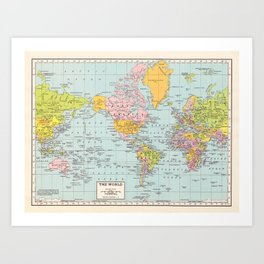World Map Kunstdrucke