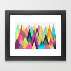 Dreamy Peaks Framed Art Print