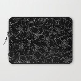 Cherry Blossom Black on White - In Memory of Mackenzie Laptop Sleeve