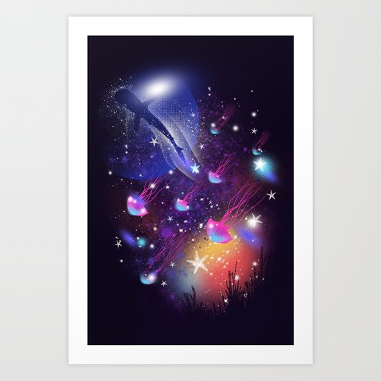 Cosmic Sea Art Print