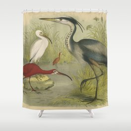 Water Birds Shower Curtain