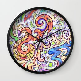 Graffiti Abstract Wall Clock