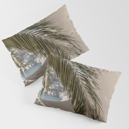 Mediterranean Spain Travel Palm Leaf Pillow Sham