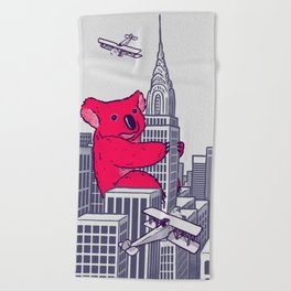 Koala Kong Beach Towel