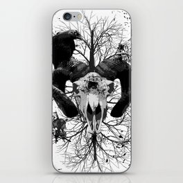 Wings and Horns of Death iPhone Skin