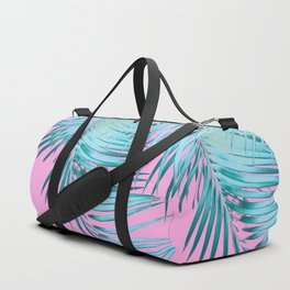 Palm Leaves Pink Blue Vibes #1 #tropical #decor #art #society6 Duffle Bag