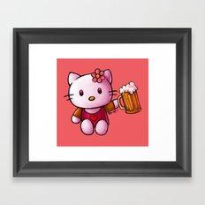 Kitty-chan Framed Art Print