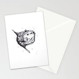 Crystal Series - Sunfish ( No Color ) Stationery Cards