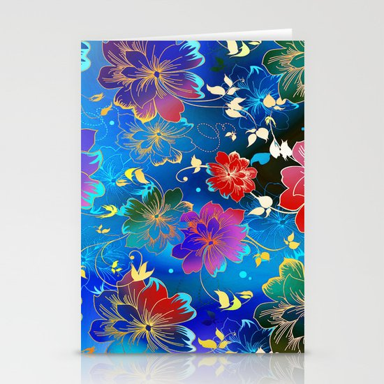 Floral Pattern 2 Stationery Cards