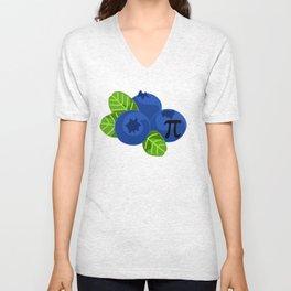 Blueberry Pie Funny Math Symbol Nerd Algebra Geek Unisex V-Neck