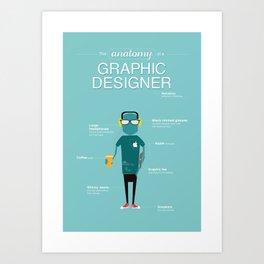 The Anatomy of a Graphic Designer Art Print