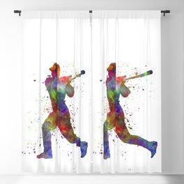 Baseball player hitting a ball 05 Blackout Curtain