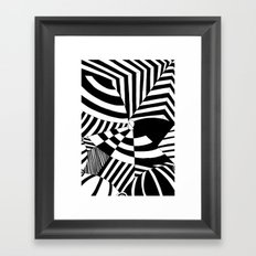 Op art pattern Framed Art Print