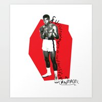 ali Art Prints featuring Ali by Dayle Kornely