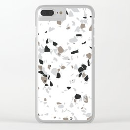 Terrazzo White Clear iPhone Case