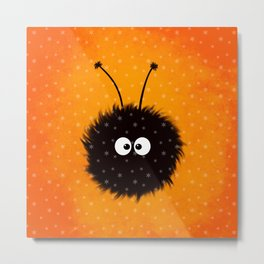 Orange Cute Dazzled Bug Winter Metal Print