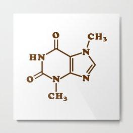 Chocolate Theobromine Molecule Chemical Formula Metal Print