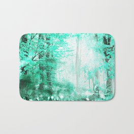 279 3 Turquoise Forest Bath Mat