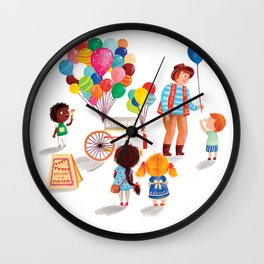 Balloon Stand Wall Clock