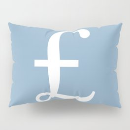 Pound currency sign on placid blue background Pillow Sham