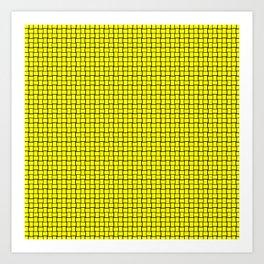 Bright Yellow Weave Pattern Design Art Print