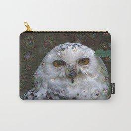 Dream Creatures, Snowy Owl, DeepDream Carry-All Pouch