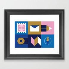 Travel Postcard Framed Art Print