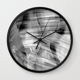 Tartan Cliffs -- grayscale Wall Clock