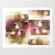Pearls Collage Art Print
