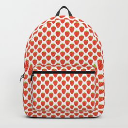 Red Strawberry Pattern Backpack