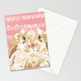 Bunny Composition (beige/pink) Stationery Cards