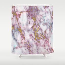 Grungy pink and gold faux marble Shower Curtain