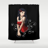 butcher billy Shower Curtains featuring Billy Rocka by Tash O'Toole