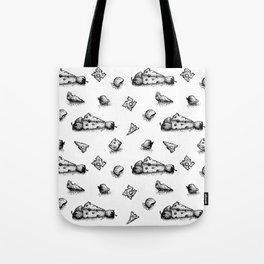 Cheeesy mood b&w Tote Bag